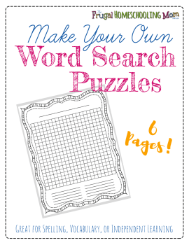 Make Your Own Wordsearch Free Frugal Homeschool Printable p