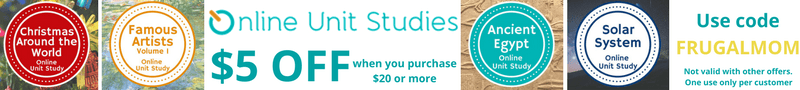 coupon code discount Techie Homeschool Mom Online Unit Studies