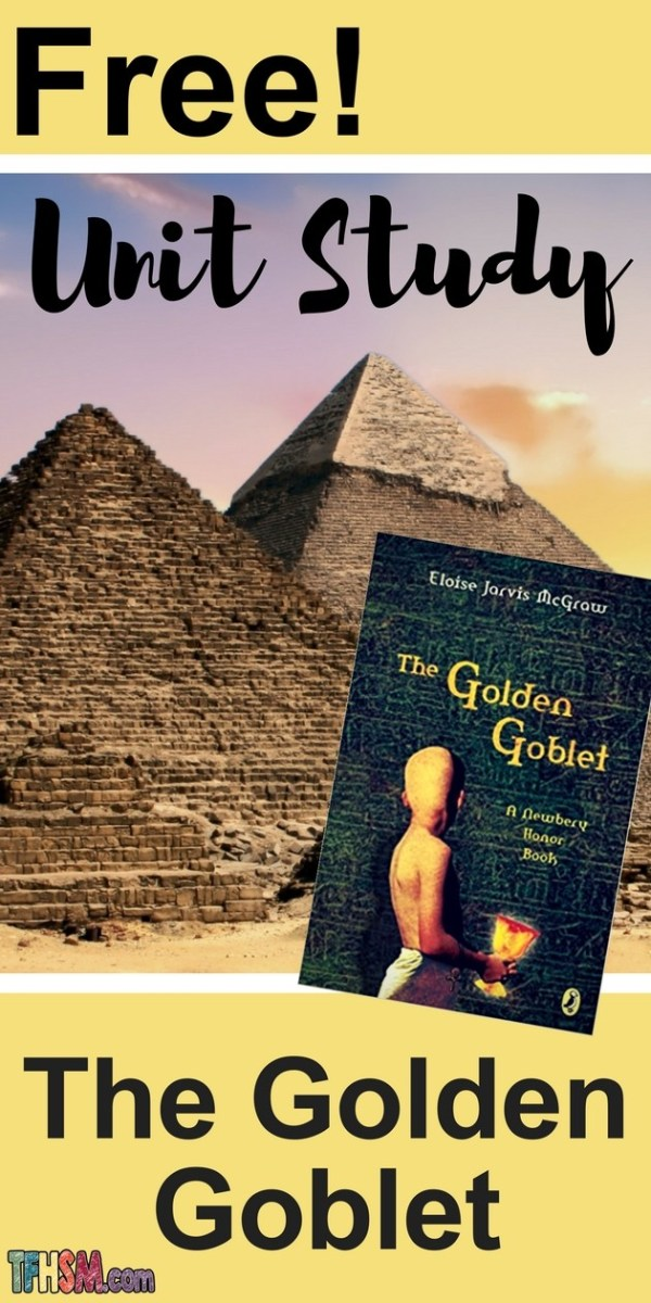 free homeschool unit study resources printables lesson plan for The Golden Goblet