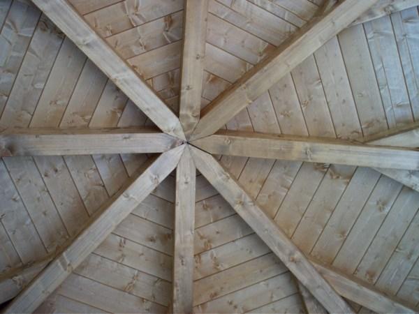 gazebo ottagonale in legno lamellare
