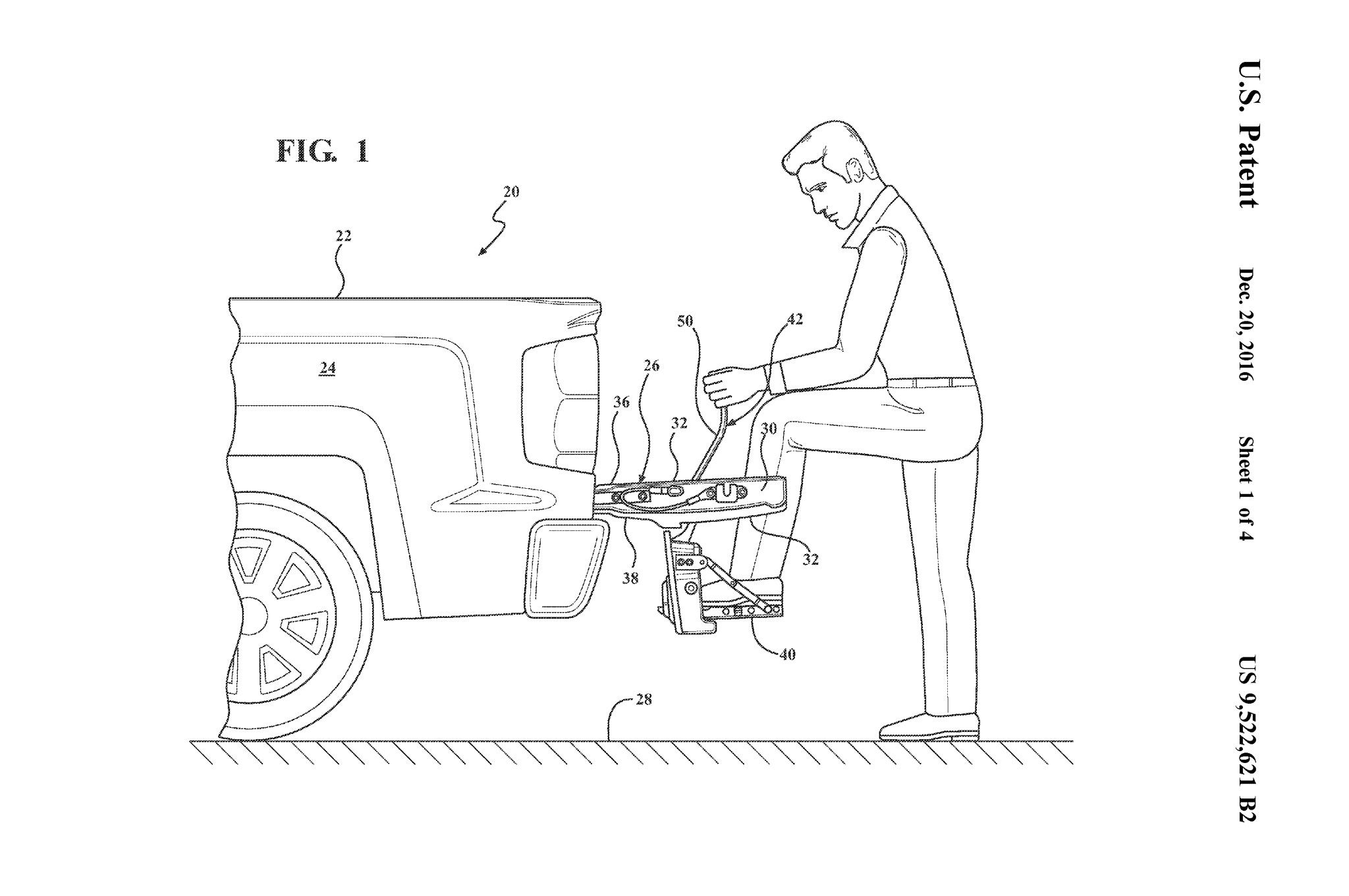 Gm Patents A Large Fold Down Tailgate Step Is It Too