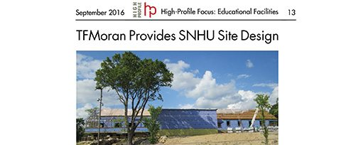 TFMoran provides site/civil for SNHU Welcome Center in Hooksett, NH