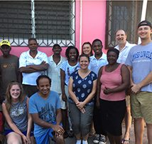 TFM Civil Project Engineer, Maureen Kelly, promoting biodigesters in Haiti