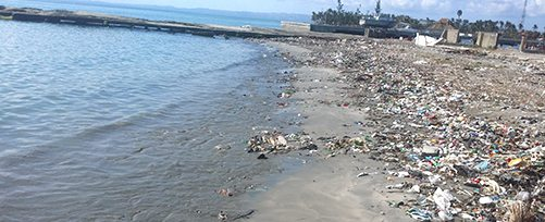 Haiti - Trash on the Beach