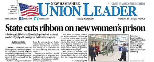 Ribbon Cutting for new State of NH Women's Prison