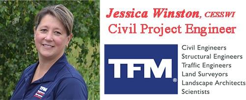 Jessica Winston, TFMoran Civil Project Engineer.