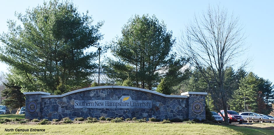 SNHU North Campus Entrance Signage