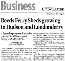Union Leader covers Reeds Ferry Sheds proposed expansion