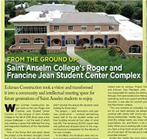 "NH Business Review ""From The Ground Up"" features Saint Anselm College's new Student Center Complex"