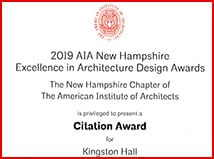 SNHU's Kingston Hall Recognized at AIANH Excellence in Design Awards