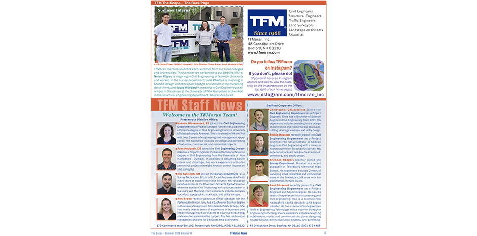 TFMoran 2019 Summer Newsletter