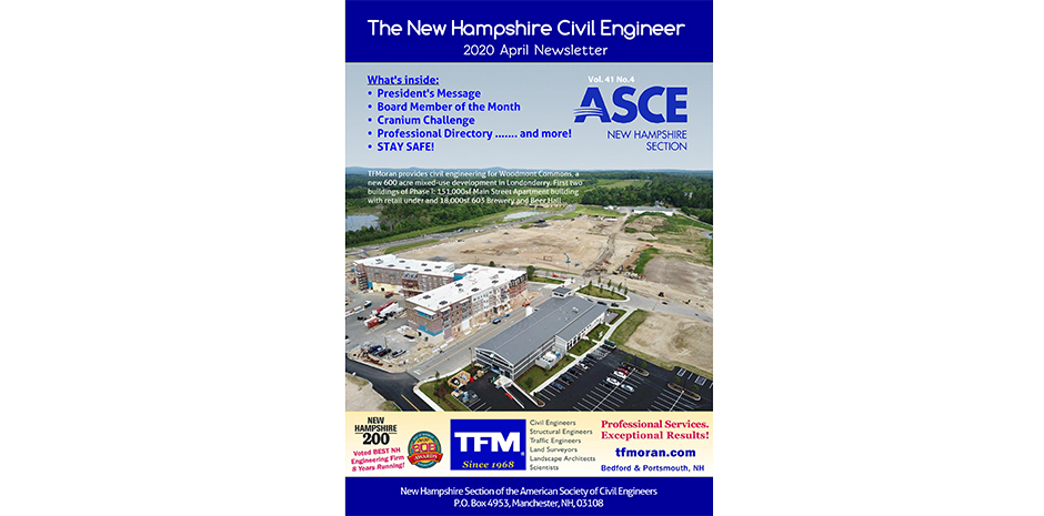 TFMoran featured in ASCE-NH April Newsletter