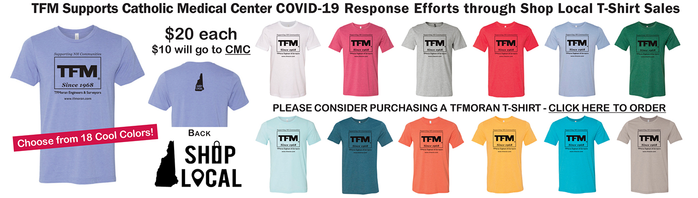 Shop Local TFMoran T-Shirt Sales Benefit CMC's COVID-19 Response Efforts