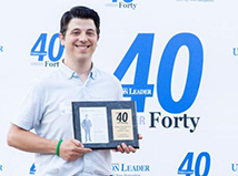 Nick Golon Union Leader 40 Under Forty 2020 event