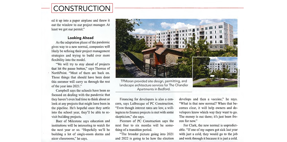 BusinessNH Magazine Construction in the Age of COVID