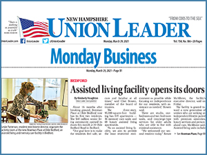 Bowman Place at Olde Bedford Featured in the Union Leader