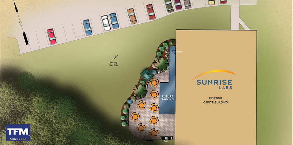 Sunrise Labs Patio Design by TFMoran Landscape Architects