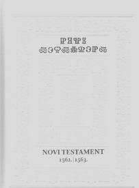 Pretisak glagoljičkoga Novoga testamenta (1562./63.)