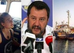 """Sea Watch 3 forza il blocco: """"Entriamo a Lampedusa"""". Salvini: """"Non autorizzo, schiero la forza pubblica""""."""