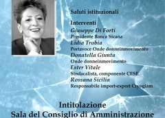 Intitolazione della Sala del CdA della Banca Sicana a Marisa Bellisario