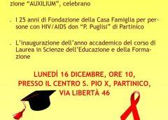 """""""Casa Rosetta"""" – Evento 16 Dicembre 2019 per celebrare i 25 anni dalla fondazione da parte di Casa Rosetta della Casa Alloggio per persone con HIV/AIDS """"P. Pino Puglisi"""" di Partinico"""