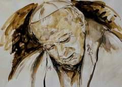L'arte contemporanea onora San Giovanni Paolo II nel centenario della nascita, il ricordo nei ritratti di Guadagnuolo