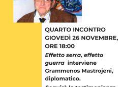 """Giovedì quarto incontro della scuola di formazione politica """"Mario Arnone"""""""