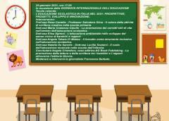 """Tavola rotonda su """"L'educazione scolastica in Italia nel 2021"""" per la """"Giornata internazionale dell'Educazione"""" I.C. King Caltanissetta in collaborazione con AG Book Publishing di Roma"""