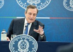 """Draghi: """"Dal 26 ristoranti a pranzo e cena all'aperto in zona gialla"""". La conferenza stampa"""