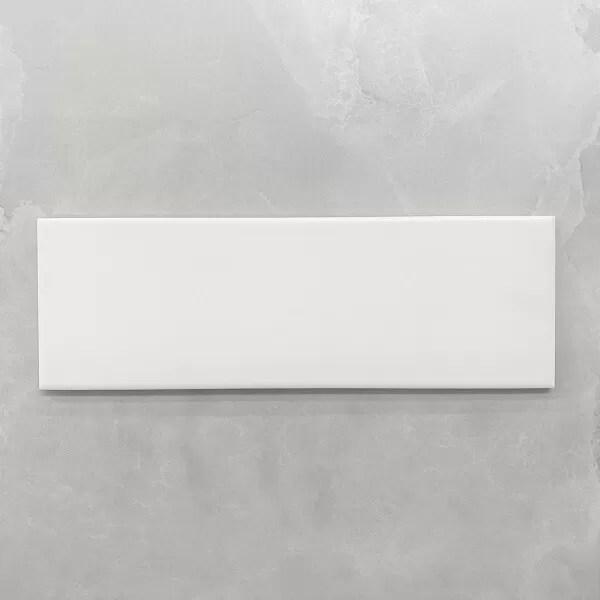 white matt ceramic subway wall tile 4142
