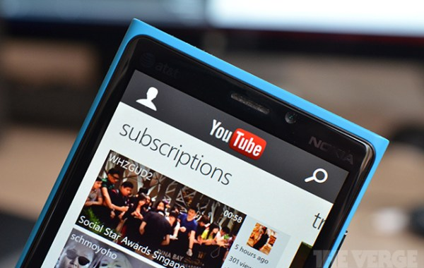 YouTube Windows Phone app