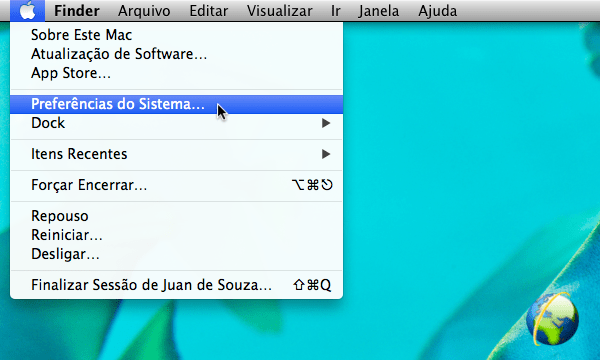 Preferências de Sistema do Mac OS X Mavericks