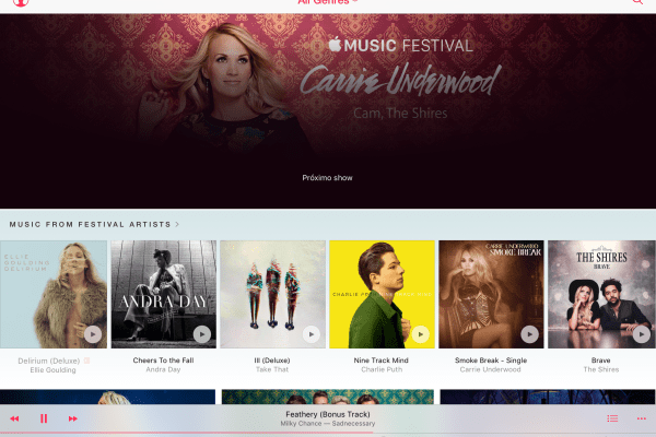 Apple Music no iPad Air 2