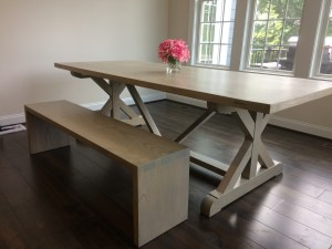 Hand-made Dining table and Bench