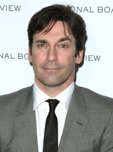 Note Jon Hamm's beard shadow.
