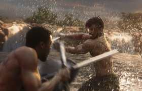 Marvel Studios' BLACK PANTHER..L to R: T'Challa/Black Panther (Chadwick Boseman) and Erik Killmonger (Michael B. Jordan)..Ph: Film Frame..©Marvel Studios 2018