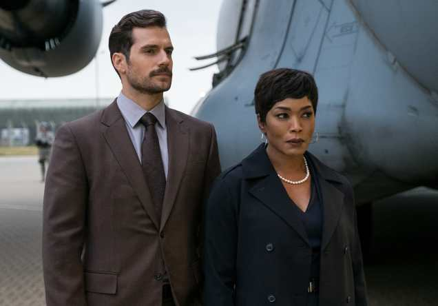 Left to right: Henry Cavill as August Walker and Angela Bassett as Erika Sloane in MISSION: IMPOSSIBLE - FALLOUT, from Paramount Pictures and Skydance.