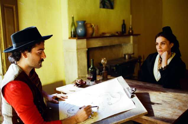 Click here to view this image: [Oscar Isaac as Paul Gauguin and Emmanuelle Seigner as Madame Ginoux in Julian Schnabel's AT ETERNITY'S GATE.] Oscar Isaac as Paul Gauguin and Emmanuelle Seigner as Madame Ginoux in Julian Schnabel's AT ETERNITY'S GATE.
