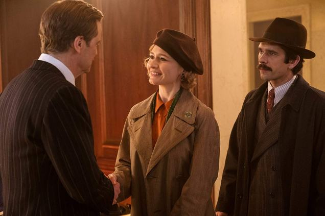 Colin Firth, Emily Mortimer, and Ben Whishaw in Mary Poppins Returns (2018)