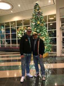 Ben and Keith Christmas Hats