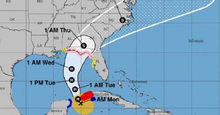 Michael becomes a hurricane as it heads to US