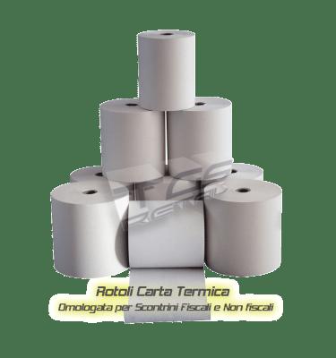 Rotoli carta termica per stampanti fiscali e