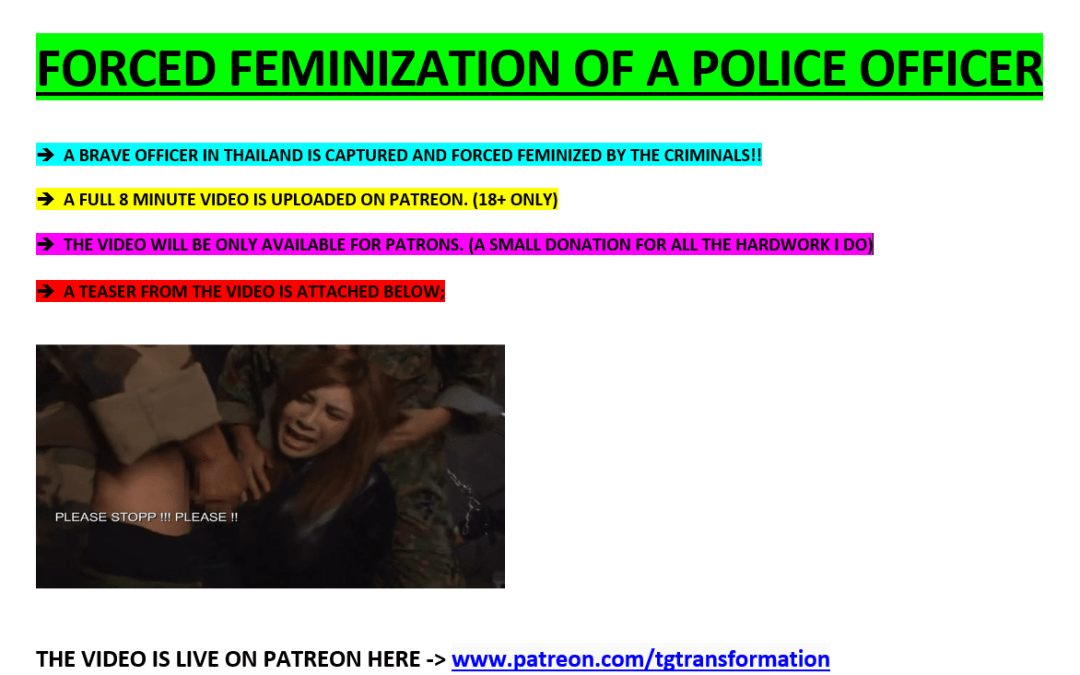 FORCED FEMINIZATION OF A POLICE OFFICER !!