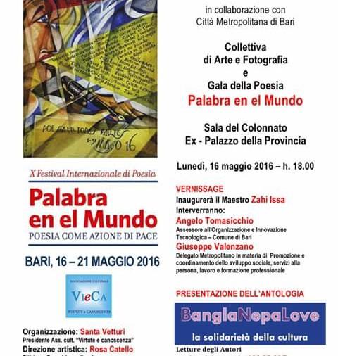 BARI – X Festival Internazionale di poesia -Palabra en el Mundo-