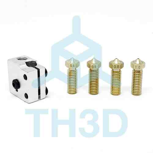 Tough High-Flow Nozzle Upgrade Kit for Tough & V6 Hotends w/4 Nozzles - Volcano Compatible
