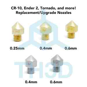 Alfawise U10 - CR-10 - Ender 2 -Ender 3 - Tornado Nozzles
