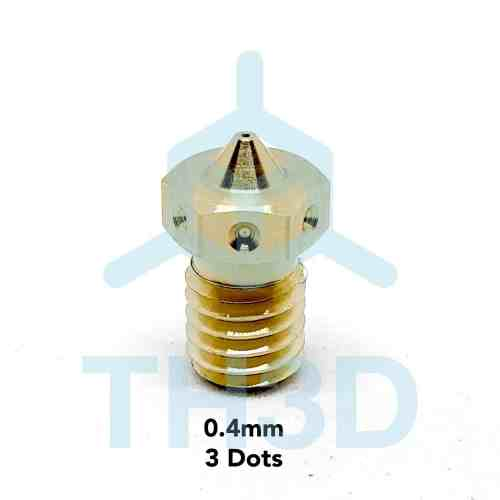 Tough V6 Compatible Nozzles - Brass or Hardened Steel