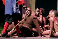Dancers during the production.