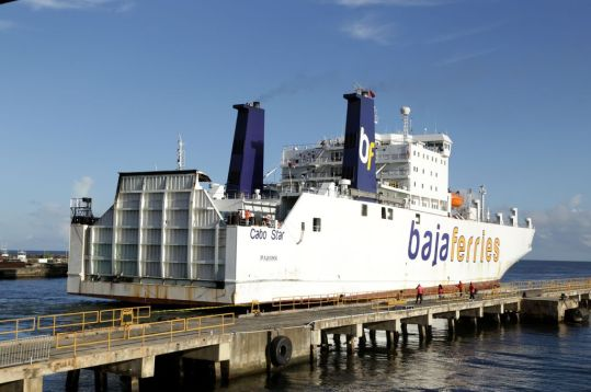 A view of the Cabo Star at the Port of Scarborough.