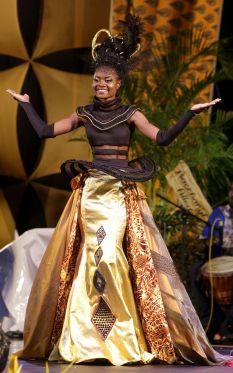 Belle Garden's Afiah Muir won the Best Gown prize.